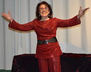 Irene Sangemark i en av de föreställningar hon gett under gångna året. Bild: Privat