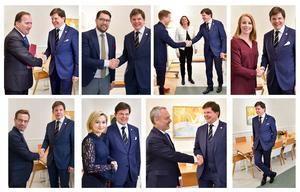 Talmannen Andreas Norlén har de senaste måndagarna likt Bill Murray i filmen