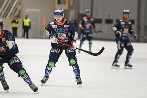 Kasper Milerud gjorde säsongens första mål för Bollnäs GIF efter två minuter i Rättvik Arena. Det skulle bli fler, många fler, för BGIF i säsongens första träningsmatch.