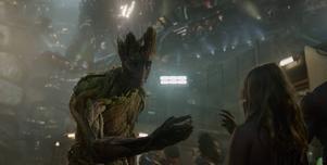 Den trädlika varelsen Groot spelas av Vin Diesel i