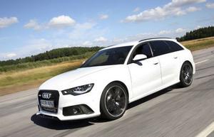 Audi RS6 är en ulv i fårakläder. Trampa på gasen och familjekombin blir en rytande supersportvagn.