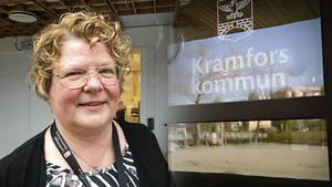 Inger Bergström, avskedad regiondirektör, börjar en anställning i Kramfors.