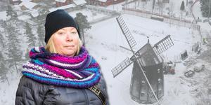 """Helena Ljungström, kritiker till hotellförslaget och initiativtagare till namninsamlingen """"Rädda Torekällberget stoppa hotellbygget""""."""