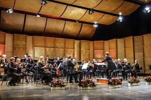 Nordiska Kammarorkestern och dirigenten Eva Ollikainen levererade ackompanjemang och några pigga operaouvertyrer. Bild: Lia Jacobi