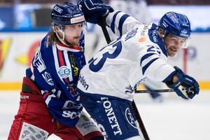 Oskarshamns poängbäste back, Marcus Björk, lämnar klubben för spel i SHL. Bild: Daniel Eriksson (Bildbyrån)