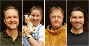 Några av de skådespelare som spelar Trollkarlen från Oz: Håkan Starkenberg, Maria Kjelsson, Owe Lidemalm och Michael Schmidberger.