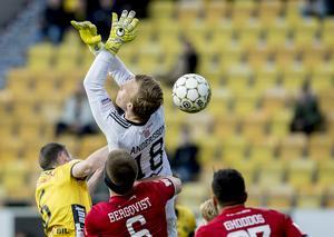 Andreas Andersson försökte greppa bollen... Foto: Adam Ihse / TT