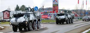 Under onsdagen passerades Hede av fordon efter den stora Natoledda militärövningen, Trident Juncture