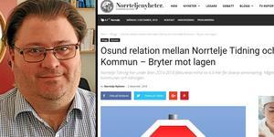 Peder Stenström, upphandlingschef i Norrtälje kommun. Foto: Norrtälje kommun, skärmklipp från Norrtelje Nyheter