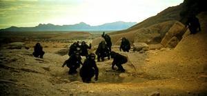 Aporna som ska bli människornas urfäder i Stanley Kubricks