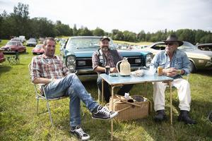 Larsa Wallin, Jens Svensson och Bosse Thunberg från Nordingrå.
