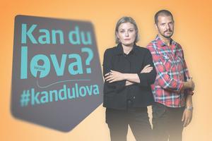 Mathilda Svensson och Christian Massana programleder valdebatten i Bollnäs.