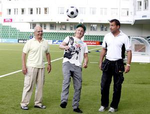 2009 möttes tre generationer giffare. Lennart, Emil och Leif Forsberg. Bild: Håkan Humla