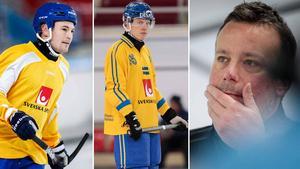 Christoffer Edlund, Erik Pettersson och Svenne Olsson. Foto: Rikard Bäckman / Bandypuls.se / TT