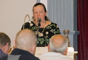 Gunilla Berglund (C) var en aktiv debattör under  kvällen.
