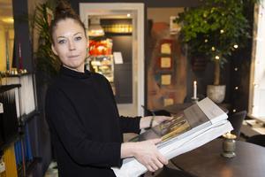 Josefin Wennström på Bisnonno bar och inredning vid Bondtorget.