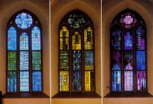 Västerås Domkyrka med fönstren