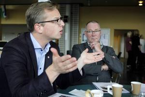 Mikael Damberg träffade Miuns rektor Anders Söderholm på måndagen för att berätta om partiets planer för högre utbildning om det får bilda regering efter valet.