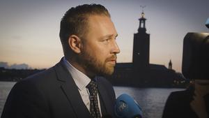 Mattias Karlsson, SD. Foto: Kalle Segerbäck/SVT