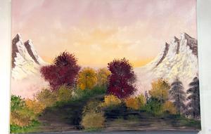 Landskap utan titel av Elin Forsberg.