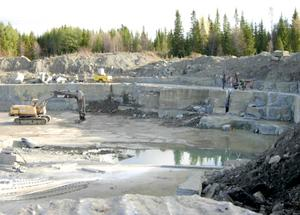 Kalkstensbrottet i Brunflo. Foto: Linda Wicksström, SGU