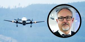 Stefan Carlsson hoppas att ett annat bolag vill trafikera Dala Airport.
