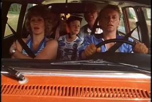 Familjen Backlund på semester i den klassiska filmen.