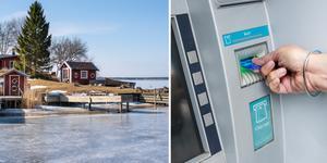 På många platser i skärgården finns det varken uttagsautomater eller bankkontor.