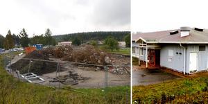 Gamla psykiatrins lokaler vid sjukhuset har rivits. Kommunen kommer nu att bygga ett gruppboende på platsen.