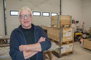 Rolf Rubensson, platschef på Åskälens vindkraftspark.
