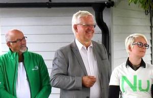 Från vänster: Arne Augustsson (C), Bo Rudolfsson (KD) och Sara Pettersson (MP).