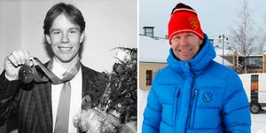 Lars-Börje Eriksson förr och nu. Den vänstra bilden är från 1988, då han tog sensationellt OS-brons i Calgary. Till höger är