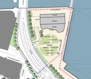 Förslaget hur det nya området ska se ut. Illustration: White Arkitekter