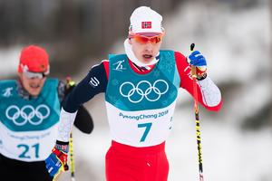 Simen Hegstad Krüger vann herrarnas skiathlon. Bild: Jon Olav Nesvold/Bildbyrån