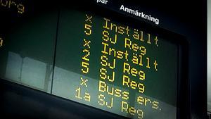 """""""Inställt. Buss ersätter. Ersättningstrafik avgår från..."""" – det är några fraser man kommer att läsa och höra vid järnvägsstationerna i östra Svealand under påskhelgen."""