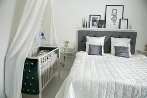 Majas, Jonathans och lilla Filippas sovrum.