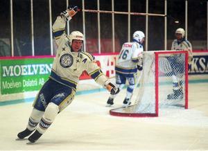 Jonas Bergqvist är en av alla ikoner som Cacke Larsson spelade med under sin tid i Leksand.