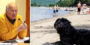 Kommunalråd Sen-Ove Danielsson (S) påtalar att hundar är välkomna att bada överallt i Ånge kommun utom på de offentliga badplatserna, men öppnar ändå för att markera ut två platser som lämpliga hundbad.