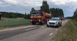 Räddningstjänsten letar efter branden vid Gammelbyn i Möklinta.