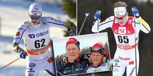Gamla Garphytteklubbkamraterna Filip Danielsson och Axel Ekström startar för första gången i världscupen i samma tävling. Arkivfoto: Rolf Zetterberg/Terje Pedersen, TT/Privat