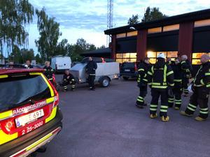 Från brytpunkt på Orsa brandstation. Foto: Orsa Brandkår