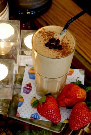 Kaffe milkshake.