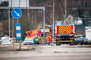 Räddningstjänsten städade snabbt undan på olycksplatsen.
