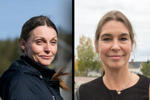 Tidningen har tagit del av mejlkorrespondens mellan Liselott Jonsson (till vänster) och Veronica Zetterberg (M). Foto: Mikael Hellsten/Eric Salomonsson