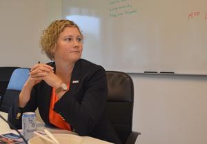 Linda Jonsson är kontorschef hos Swedbank.