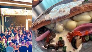 Den goda atmosfären och servicen på Folkets bar & restaurang räcker inte till ett fullt godkänt betyg, anser Krogkollen. Bilden till vänster: VardagruppenBilden till höger: Krogkollen