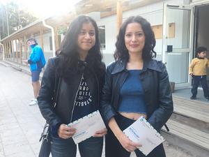 Blanca Coronado och Edka Coronado har i dag röstat för allra första gången. De senaste veckorna har de följt valrörelsen och gjort SVT:s valkompass, för att hitta det parti som står dem närmast.