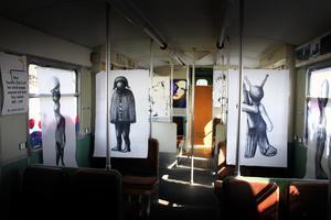 Konst i tunnelbanan på Mannaminne.