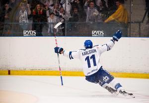 Martin Karlsson fick sätta 2–0 för Leksand i den första perioden. Foto: Simon Hastegård / Bildbyrån.