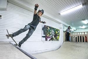 Alex Sälstad från Åre gilla Östersunds nya skateboardhall: